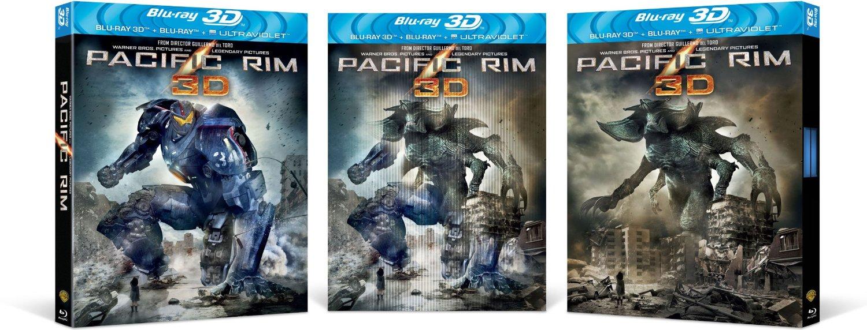 "Lenticular Cover: ""Pacific Rim [Blu-ray 3D + Blu-ray + UV ... Pacific Rim Blu Ray Cover"